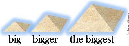 Resultado de imagen de comparativo y superlativo en ingles