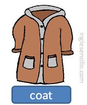 Prendas de abrigo en ingles